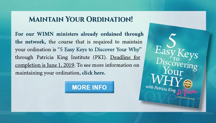 Maintain Ordination